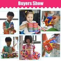 61-135 Uds de gran tamaño bloques magnéticos de diseñador conjunto edificio juguete de imanes constructor magnético bloques juguetes para niños