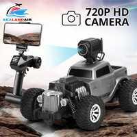 1:18 2,4G Auto RC coche cámara HD FPV WIFI 720P Control remoto eléctrico coches de juguete en la Radio coche de conducción de orugas de roca controlado
