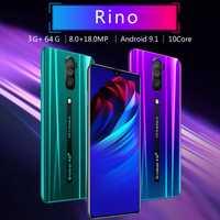 Rino RAM 3G ROM 64G Smartphones plein écran Android OS 9.1 système double carte SIM 4G téléphones, prise ue