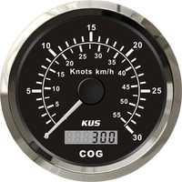 1 PZ 100% nueva tabla de velocidad GPS 85mm velocímetros 30 nudos 0-55 KMH para barco automóvil con antena GPS Color negro