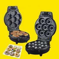 2in1 máquina para hacer tartas, máquina para rosquillas, electrodomésticos, electrodomésticos, fabricante de tuercas eléctricas, máquina para hacer donas, enchufe europeo de 220v