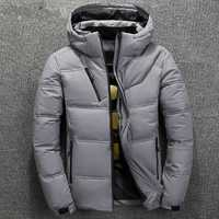 ZOGAA 2019 invierno Parka hombre algodón acolchado cálido grueso chaqueta con capucha abrigo sólido cremallera chaquetas prendas de vestir Parkas hombre de alta calidad