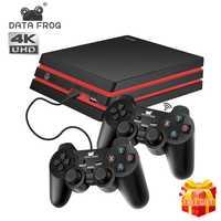 Données grenouille Console de jeu avec 2.4G contrôleur sans fil HDMI Console de jeu vidéo 600 jeux classiques pour GBA famille TV rétro jeu