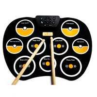 Electrónica niños tambor trompeta de juguete música percusión instrumento banda Kit de Aprendizaje Temprano juguete educativo bebé niños regalo
