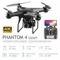 Dron profesional con cámara ESC giratoria 4K HD WiFi FPV altitud mantener gran angular RC Quadcopter helicóptero juguete VS XY4 E58