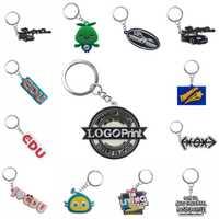 Personnalisation personnalisée PVC porte-clés votre propre conception Logo conception personnalisée porte-clés pour la vente en gros