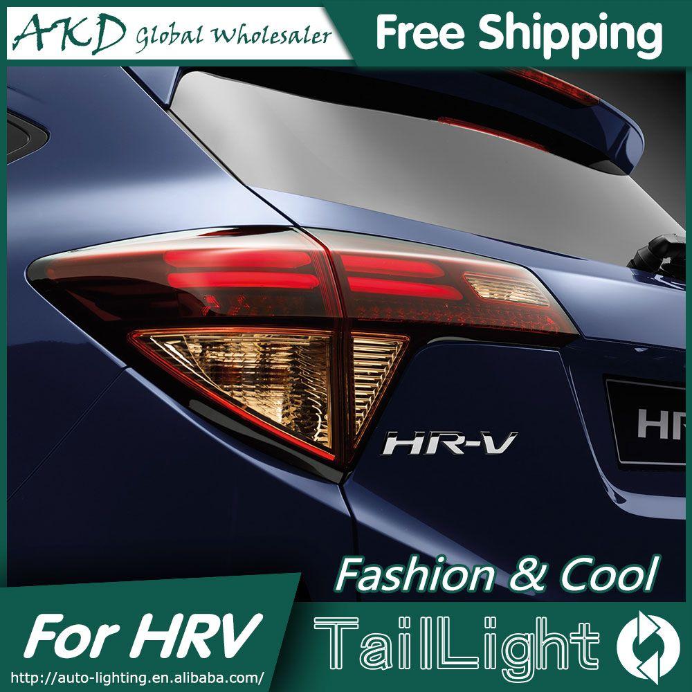 HGM US $334.95 AKD Car Styling for Honda HRV Tail Lights 2014-2016 Vezel LED Tail Light Aurion Rear Lamp DRL+Brake+Park+Signal