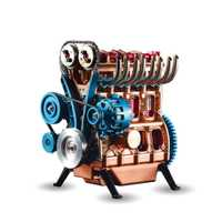 Mini coche de Metal ensamblado en línea de cuatro cilindros, modelo de motor de coche, juegos de modelos, rompecabezas, juguetes para adultos, empalme, Hobby Building