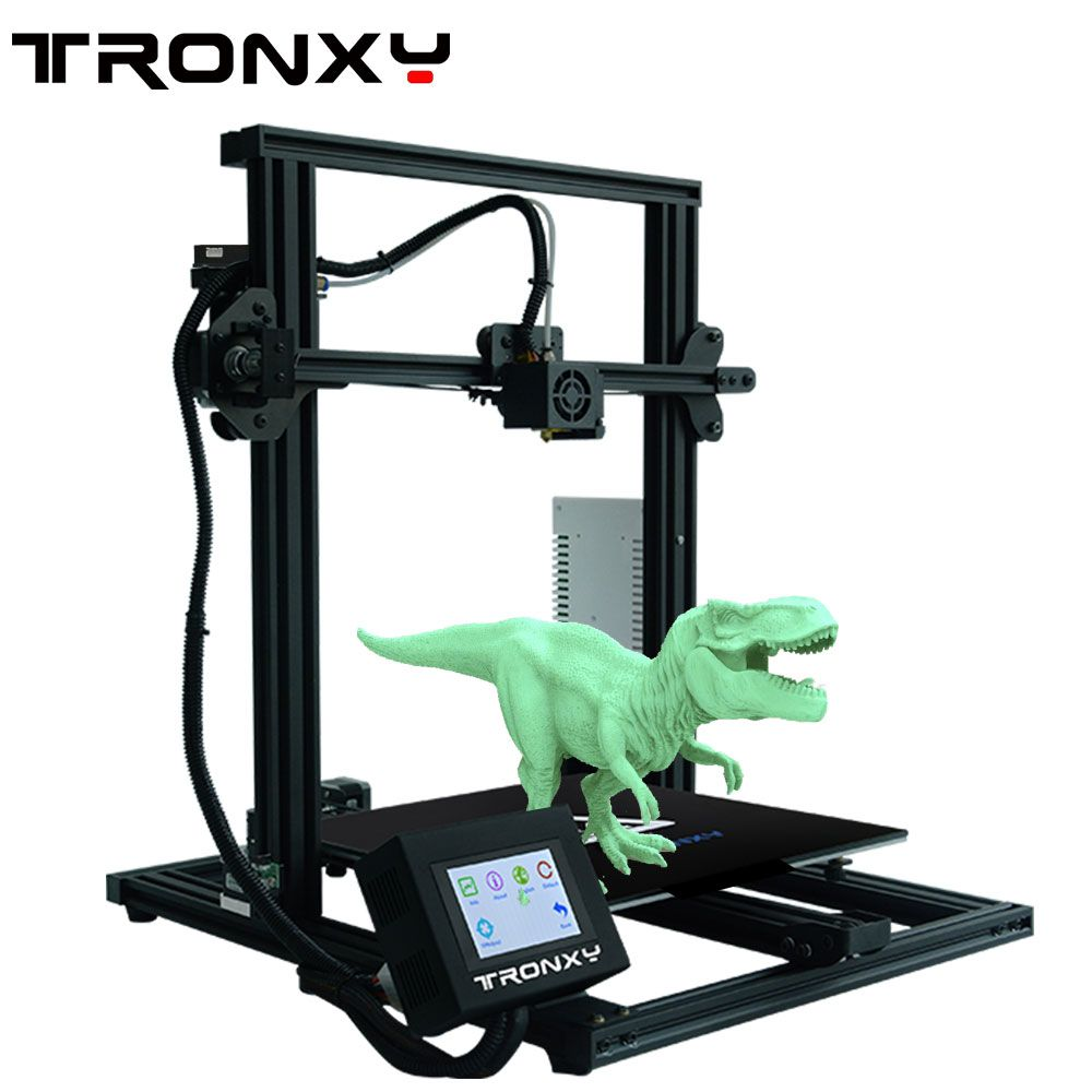 TFO US $177.45 2020 Newest Big sale Tronxy XY-3 completed 3D Printer FDM Printing Full Metal High Precision Printing with hotbed Size