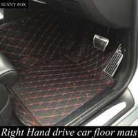Soleado FOX mano derecha drive/RHD coche alfombrillas para Audi A8 L A8L 6D pie caso alfombras de estilo del coche del tiempo alfombra perfecta li