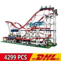DHL 18003 4299 pièces nostalgique Restaurant montagnes russes ville vue rue MOC série blocs de construction compatibles Legoings 10261 jouet