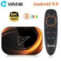 VONTAR X3 4GB 128GB 8K Amlogic S905X3 Smart TV BOX Android 9.0 double Wifi 1080P 4K Youtube décodeur 4GB 64GB 32GB