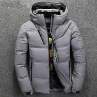 ZOGAA, Parkas de invierno para hombre, 90%, plumón de pato blanco cálido, chaqueta gruesa con capucha, abrigo, cremallera sólida, prendas de vestir, chaqueta Masculina, triangulación de envío