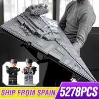 81098 Star toys Wars ultime série de collection 5278 pièces Max impérial étoile destructeur vaisseau spatial blocs de construction brique legoing 75252