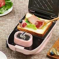 EL-3003A eléctrica de 700W para el desayuno, máquina para hacer gofres, horno de masa semiesférica, Mini máquina de sándwich de hierro, herramientas de cocina