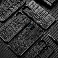 Funda Original de cocodrilo para iphone 11 pro max funda protectora pesada a prueba de golpes para iphone 11 funda xs max 8plus