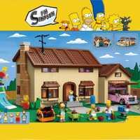 Lepinblocks 16005 bloques de construcción de la casa de los Simpsons modelo de ladrillos para juguete infantil regalo Compatible legoinglys 71006 regalo de cumpleaños