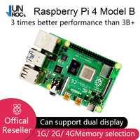 2019 nouveau Original officiel framboise Pi 4 modèle B RAM 1G 2G 4G 4 Core 1.5Ghz 4K Micro HDMI Pi4B 3 vitesses que framboise Pi 3B +