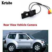 Krtabo Hd cámara de aparcamiento inverso para Mitsubishi Montero 2006 ~ 2014 visión nocturna cámara de vehículo de visión trasera