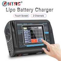 HTRC T240 DUO RC chargeur ca 150W DC 240W écran tactile double canal Balance déchargeur pour RC modèles jouets Lipo batterie