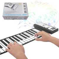 Piano Portable 61 touches clavier électronique Pianos professionnel intelligent pliant Silicone retrousser Piano débutant Instrument enfant cadeau