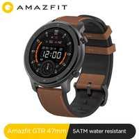 Version mondiale nouvelle Amazfit GTR 47mm montre intelligente 5ATM Smartwatch 24 jours batterie contrôle de la musique pour Xiaomi Android IOS téléphone