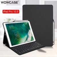 Pour iPad Pro 10.5 étui Bluethooh clavier intelligent Folio support couverture porte-crayons housses pour iPad Pro 10.5/iPad Air 3 2019 couverture