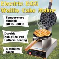 No-stick 110V eléctrico comercial waffle máquina para waffles Baker helado crujiente cono máquina de hacer masa semiesférica Eggettes horno