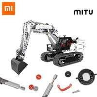 Xiaomi MITU ingénierie pelle blocs de construction jouet enfants cadeau chenille Simulation console mécanique transmission 900 + pièces