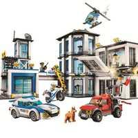 10660 936 pièces ville poste de Police Bela bloc de construction Compatible Legoinglys 60141 briques jouet