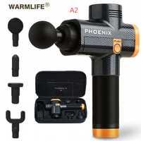 Phoenix A2 pistola de masaje muscular masajeador de tejido profundo pistola de terapia de ejercicio de dolor muscular alivio de peso experto en pérdida de peso