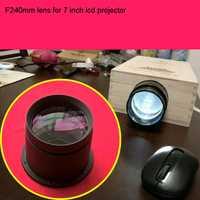 Projecteur LED bricolage lentille F240mm focale lentille de projection maison cinama bricolage lentille pour 7 pouces projecteur lcd livraison gratuite