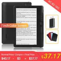 CLIATE 4G8G/16G LCD 7 pouces Ebook lecteur écran couleur intelligent avec résolution HD numérique E-book vidéo MP3 lecteur de musique