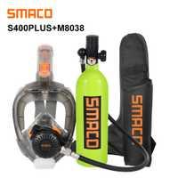 SMACO Mini réservoir de plongée sous-marine et combinaison de masque de plongée, respiration libre sous l'eau pendant 16 Minutes