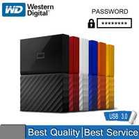 Disco duro externo WD My Passport USB 3,0 1TB 2TB 1T 2T Disco Duro móvil portátil cifrado almacenamiento externo de alta velocidad