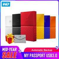 Western Digital portátil HDD 1 TB 2 TB 4 TB mi pasaporte USB 3,0 disco duro externo con HDD cable Windows Mac envío gratis
