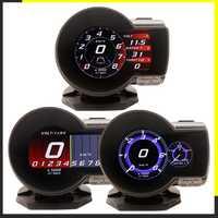 Profession magicien OBD2 F835 tête haute affichage voiture numérique Boost jauge tension vitesse mètre eau température alarme huile Auto F 835 OBD 2