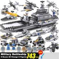747 Uds. Avión de guerra militar figuras del ejército bloques de construcción LegoED bloques de construcción compatibles LegoINGlys juguetes para niños
