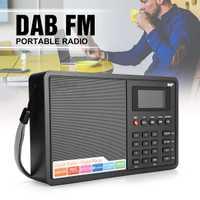 Portátil DAB/DAB + FM Bluetooth4.0 1,8 pulgadas pantalla TFT LCD Digital de Radio música altavoz MP3 USB reloj de alarma digital RDS