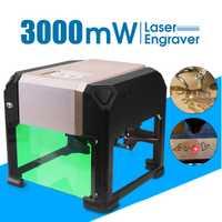 3000 mW CNC grabador láser DIY marca de logotipo de grabado láser máquina de talla para uso en el hogar artesanía de madera herramientas