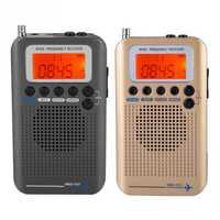 Portátil aeronaves banda receptor de Radio VHF FM de banda completa grabadora de Radio LCD SW Radios CB con auriculares