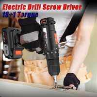 1300 RPM 21 V eléctrica sin cuerda destornillador broca conductor-2 velocidad 18 equipo w/Li-Ion batería recargable con LED antorcha 18 par