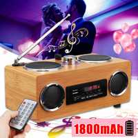 Retro Vintage Radio Super Bass FM Radio de altavoces Multimedia clásica receptor USB con MP3 Player Control remoto