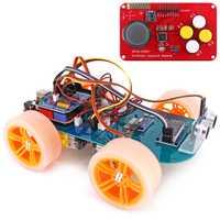 4WD mando inalámbrico de Control remoto de coche inteligente programable de alta tecnología Kit de juguete con el Tutorial para Arduino para R3 Nano