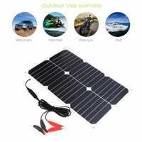 ALLPOWERS Solar del cargador de batería del coche 12 V 12 V 18 W portátil cargador de coche Solar para 12 V batería de coche automóvil motocicleta barco