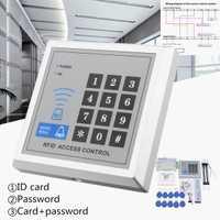 RFID biométricos de Control de acceso de la huella digital cerradura de la puerta Sistema de lector de tarjeta de teclado + magnética eléctrica/perno/Strike cerradura