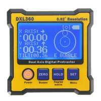 DXL360 recargable de doble eje Digital ángulo transportador eje doble pantalla Digital medidor de nivel con 5 lado Base magnética