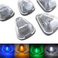 5 X LED claro de la lente del coche de techo superior de indicador de marcador lateral lámparas impermeable azul blanco verde ámbar para SUV camioneta