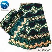 Tela de brocado de jacquard LIULANZHI telas de algodón para manteles tela de algodón verde Azin patchwork últimos 7 yardas/lote ML47B10