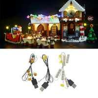 Kit de luz LED para Lego Santas taller 10245 Navidad para Lego accesorios de juguete